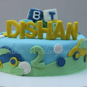 Alphabet Birthday Cake