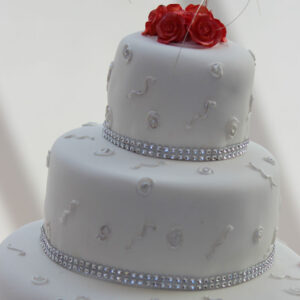 beautiful wedding cake from cake wellington