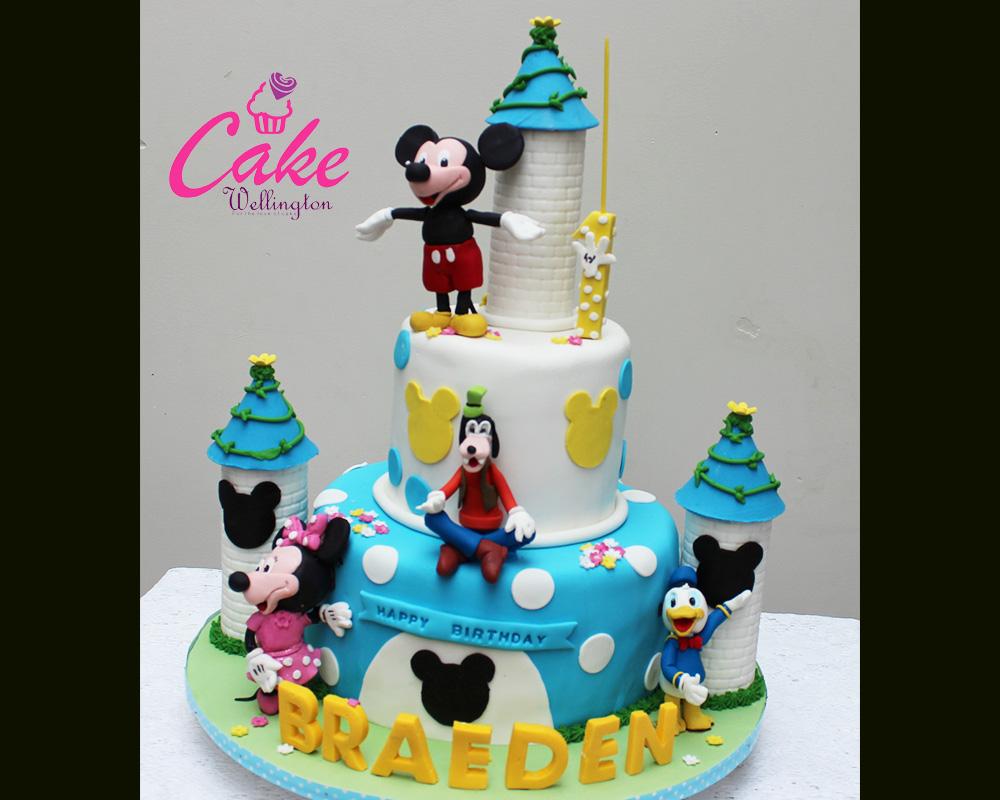 Mickey Mouse Birthday Cake Cake Wellington