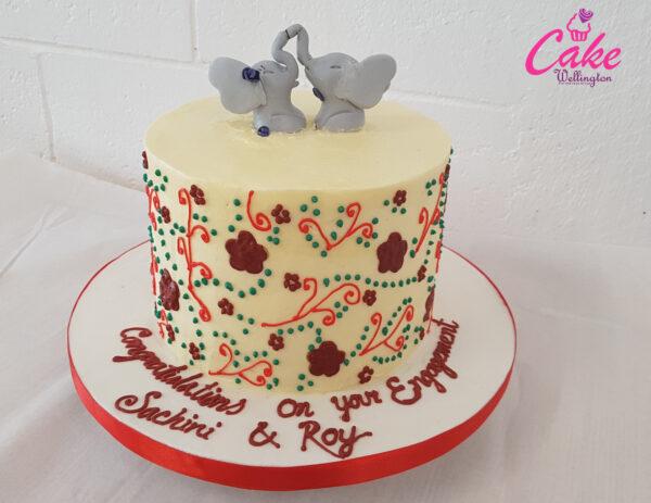 Wedding Cake Engagement Cake