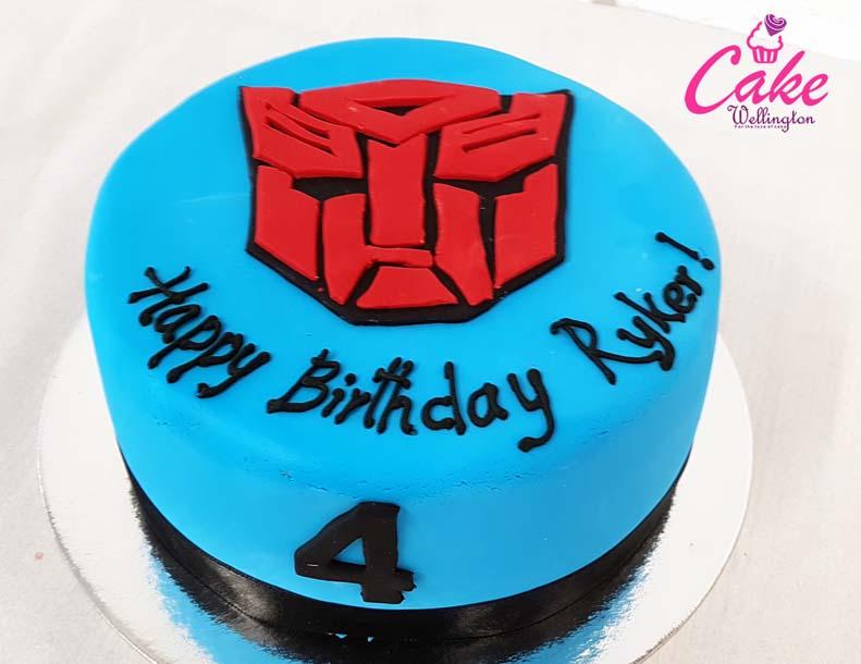Admirable Transformer Birthday Cake From Cake Wellington The Wellington Cake Funny Birthday Cards Online Alyptdamsfinfo